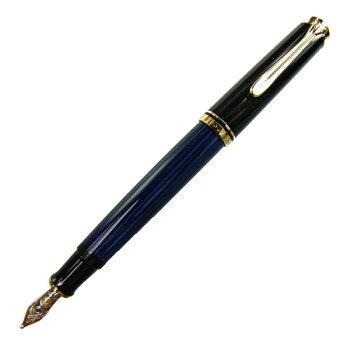 PelikanペリカンスーベレーンM400ブルー縞万年筆ペン先M:中字m400bluem