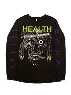 ALIENBODY×HEALTH/WHEELSOFFEARLSエイリアン・ボディ×ヘルス長袖Tシャツバックプリントノイズエクスペリメンタル
