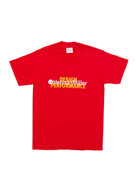デッドストック HERMAN MILLER / PERFOMANCE ハーマンミラー オフィシャル Tシャツ ロゴ