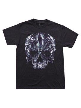 ムービーTシャツ ALIEN / ALIEN SKULL MONTAGE エイリアン オフィシャル 映画Tシャツ リドリー・スコット H.R. ギーガー
