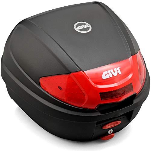GIVI(ジビ)バイク用リアボックス30L未塗装ブラックレッドレンズモノロックケースE300N276872