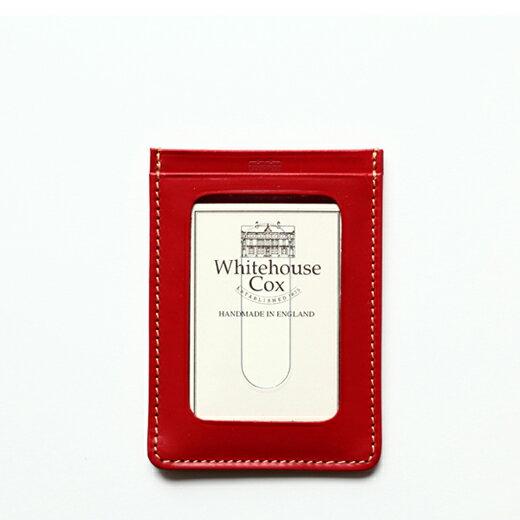 【ホワイトハウスコックスWhitehouseCox】/S7134パスケース(定期入れ)/レッド