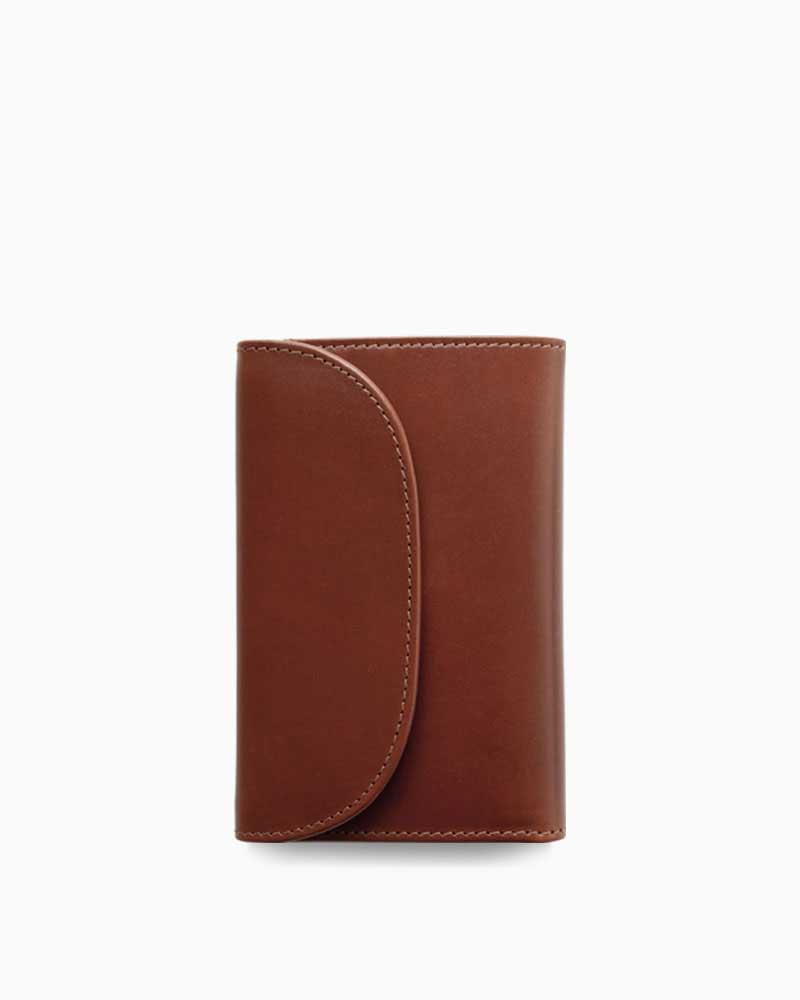 ホワイトハウスコックス【Whitehouse Cox】型番:S7660(コンカー×ナチュラル) 財布 三つ折り財布 ツートン ヴィンテージブライドルレザー 牛革 男女兼用 (ブラウン)(ベージュ):フレームショップ
