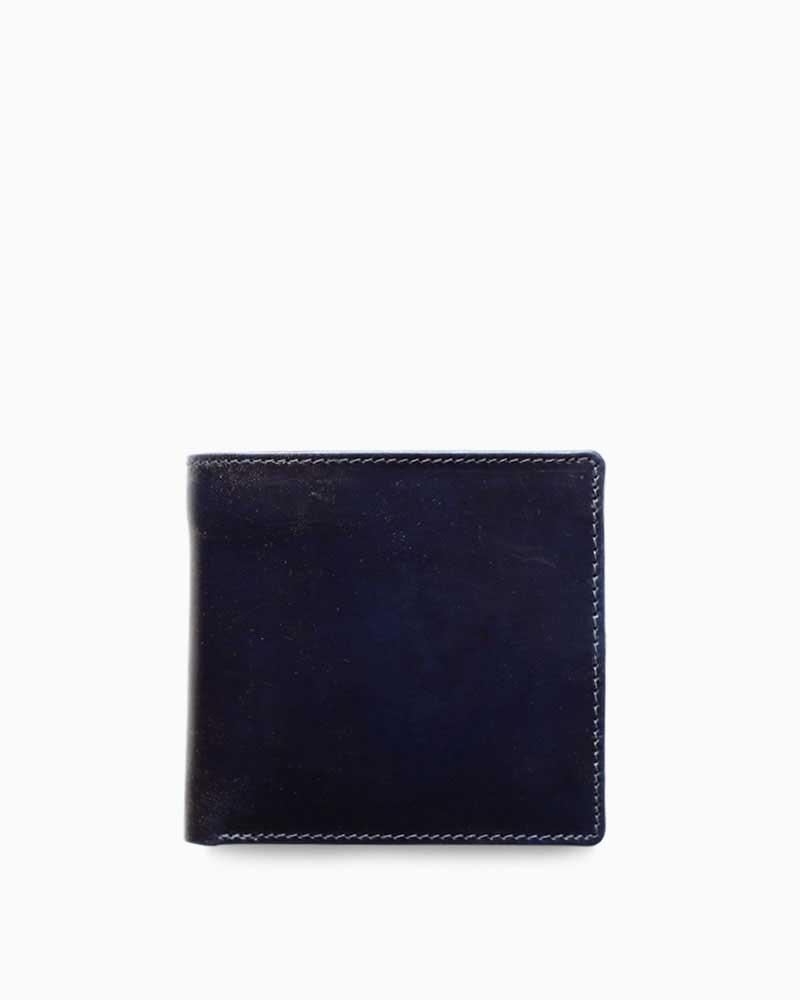 ホワイトハウスコックス【Whitehouse Cox】型番:S7532(ネイビー×ナチュラル) 財布 二つ折り財布 ツートン ヴィンテージブライドルレザー 牛革 男女兼用 (ネイビー)(ベージュ):フレームショップ