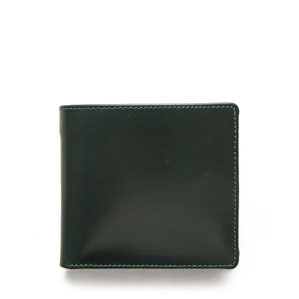 ホワイトハウスコックス【WhitehouseCox】型番:S7532(グリーン×ニュートン)ブライドルレザー2トーンコインケース付二つ折り財布