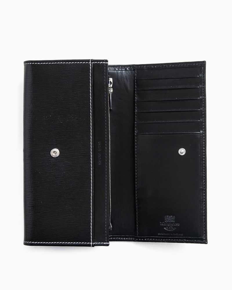 ホワイトハウスコックス【WhitehouseCox】型番:S1160(ブラック/ホワイトステッチ)財布長財布ロングウォレットリージェントブライドルレザー牛革男女兼用