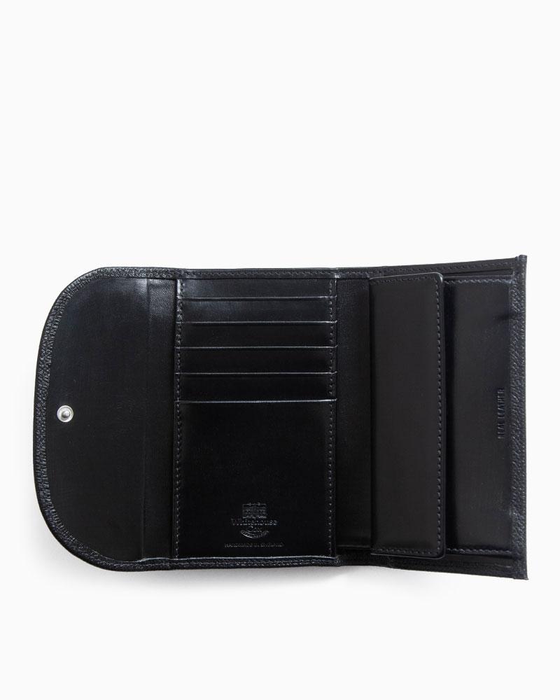 ホワイトハウスコックス【WhitehouseCox】型番:S7660(ブラック)財布三つ折り財布ロンドンカーフ×ブライドルレザー牛革男女兼用