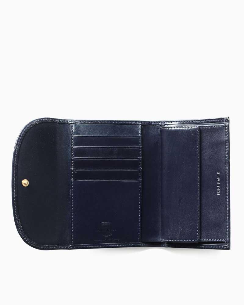 ホワイトハウスコックス【WhitehouseCox】型番:S7660(ネイビー)財布三つ折り財布ブライドルレザー牛革男女兼用