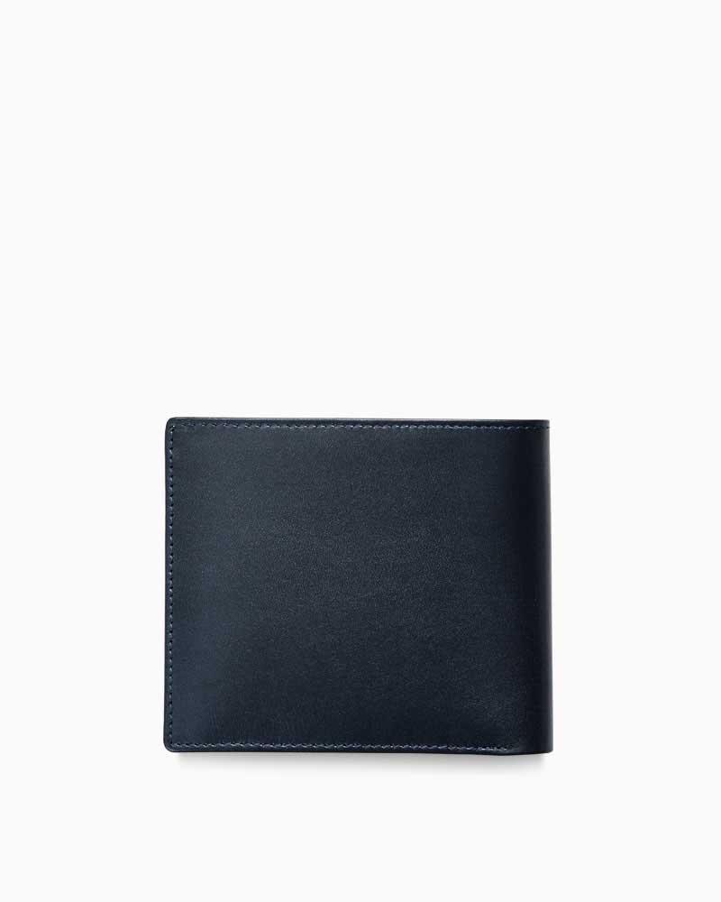 ホワイトハウスコックス【WhitehouseCox】型番:S8772(ネイビー)インディビジュアル・コレクションワンウェイ・ボックスカーフ二つ折り財布