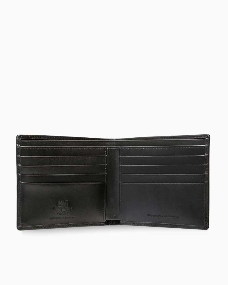 ホワイトハウスコックス【WhitehouseCox】型番:S8772(ブラック)インディビジュアル・コレクションワンウェイ・ボックスカーフ二つ折り財布