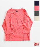 [homspun]ホームスパン 天竺七分袖Tシャツ(シーズンカラー) 6450
