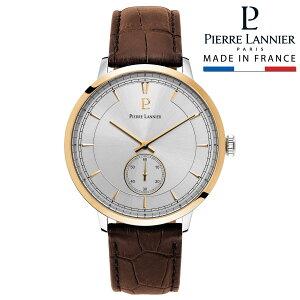 腕時計 メンズ ブランド ピエールラニエ スモールセコンド レザーベルト コンビ 牛革 本革 防水 ベルト 秒針 p242c124 ビジネス お祝い
