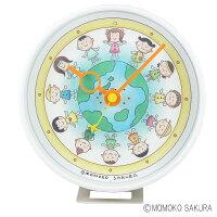 さくらももこクロック地球の子供たち2WAY置き時計掛け時計