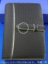 訳ありポケットサイズ(ナロー変形サイズ)ディンプル・レザー・バインダー オープンタイプ ブラックxホワイト(552)※コンディションは商品説明と写真をご参照ください。