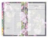 コンパクトサイズ(バイブルサイズ幅広) フランクリンプランナー リフィル 6穴  ブルーム・デイリー・リフィル (英語版) 1日2ページ  手帳 システム手帳 フランクリン 2018年1月