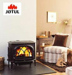 炎が楽しめる大型窓とすぐれたメンテナンス性。薪ストーブ・JOTUL ヨツール社 F500(ブラック...
