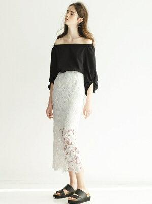 せいせいするほど3話の武井咲衣装のロングレーススカート