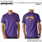 PATAGONIA パタゴニア Tシャツ 39045<M's Line Logo Badge Cotton/Poly Responsibili-Tee メンズ ライン ロゴ バッジ コットン/ポリ レスポンシビリティー >※取り寄せ品