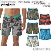 "PATAGONIA トランクス 86730<Men's Scallop Hem Wavefarer Board Shorts - 18"" メンズ スカラップヘム ウェーブフェアラー ボード ショーツ(46cm)>"