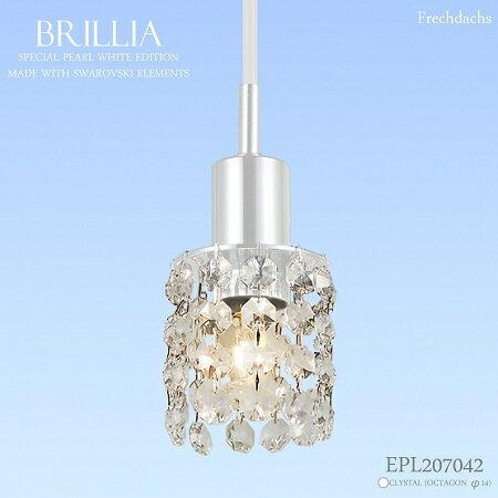 Davide Swarovski Crystal optician Delia Brillia Pearl White clear Octagon  EPL207042 pendant light Brillia Brillia interior lighting living dining