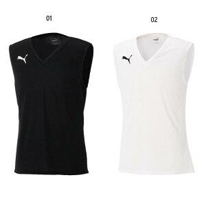 メンズ インナーシャツ タンクトップ サッカーウェア フットサルウェア トップス アンダーウェア スポーツインナー ノースリーブ プーマ PUMA 655277