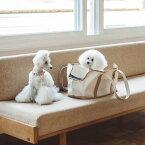 【犬 キャリーバッグ】スクエア トート ハンプ ツートン M サイズキャリーバッグ キャリーバック バッグ かばん 鞄 小型犬用 犬用品 ペット用品 動物 洗える 洗濯 日本 シンプル おしゃれ 人気 旅行 お出掛け ドッグカフェ 散歩