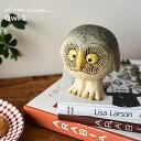 【送料無料】 リサ・ラーソン グレーのふくろう (Lisa Larson)