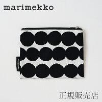 マリメッコ マチなしポーチ ラシィマット ブラック/Kaika(marimekko)