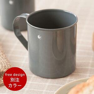 ツバメ 琺瑯マグカップ グレー【free design 別注】(グローカルスタンダードプロダクツ) Tubame Mug cup (GLOCAL STANDARD PRODUCTS)