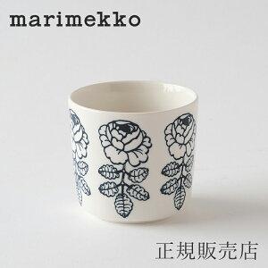 マリメッコ ラテマグ(marimekko) ヴィヒキルース ホワイト×ブラック