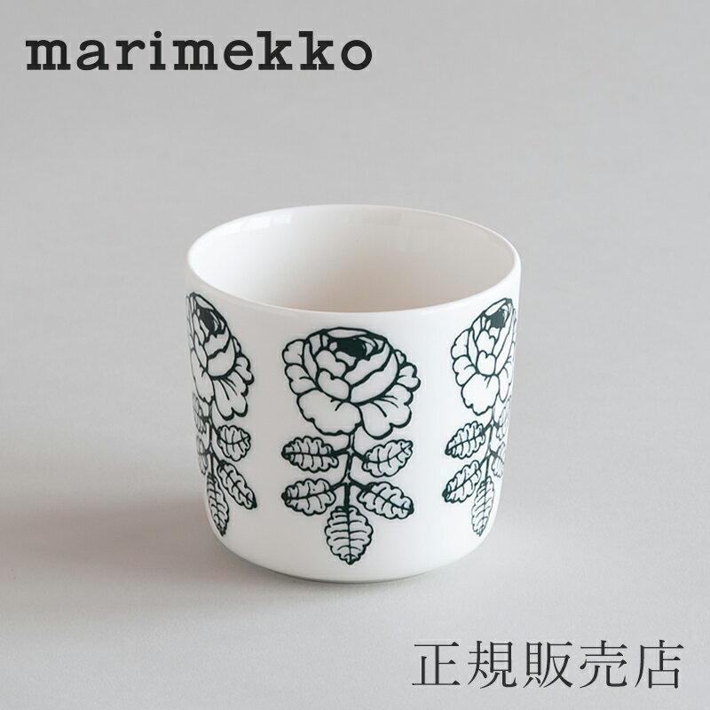 マリメッコ ラテマグ(marimekko)ヴィヒキルース ホワイト×グリーン