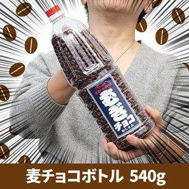 がっさぁぁあ~~っと両手いっぱいに麦チョコ!ずっと食べ続けられます 麦チョコボトル540g