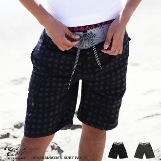 "Japan's famous brand, ""SAFS"", Solid colored & emboss printed surf trunks, like board shorts, back side elastic band"
