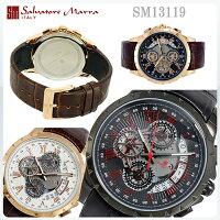 サルバトーレマーラメンズ腕時計SM13119PGWH/PGBK/IPBKRD全3色クロノグラフ【SalvatoreMarra】