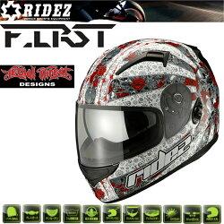 ライズフルフェイスヘルメットユナイテッドロースホワイト