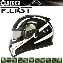 【RIDEZ】ライズインナーバイザーフルフェイスヘルメットFIRSTFR-1ホワイト