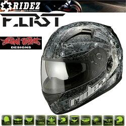 ライズフルフェイスヘルメットユナイテッドローズリーサルスレートデザイン