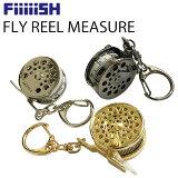 ゆうパケット対応2個迄 FiiiiiSH フライリールメジャーテープ 釣り具型メジャー 手巻きタイプ あす楽対応