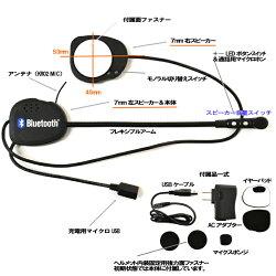 【Kemeko】【Bluetooth】ヘルメット用ステレオハイファイヘッドセットKR02【RCP】