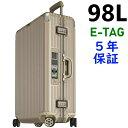 リモワ トパーズチタニウム 4輪 98L 電子タグ 924.77.03.5 ニュージェネレーション TSA付 スーツケース ゴールド E-Tag