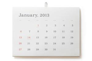 何年使っても飽きのこない定番カレンダー葛西薫 2013年カレンダー 罫線なし 【メール便不可】