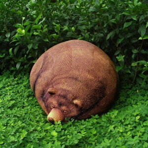 アメリカドル札がいっぱいのクッション☆Chic Sin Design Sleeping Grizzly Bear Beanbag スリ...