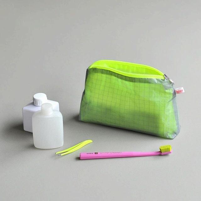 メイク道具・ケアグッズ, ボトル・ケース・携帯小物 kolor Magic Zipper Pouch greyneon yellow S