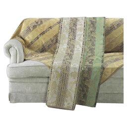 HV1415S 川島織物セルコン 花とストライプ マルチカバー 200×290 (グリーン)