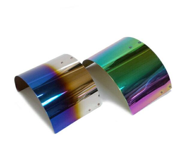 汎用 エアクリーナー 遮熱板 カバー エアフィルター エアクリ S13 S14 S15 シルビア180SX 86BRZ シルビア/ネオクローム チタンブルー画像