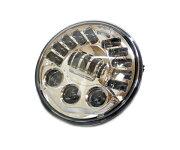 ハーレー用7インチLEDヘッドライトバンクセンサー内蔵傾斜角に反応し発光ヘッドランプFLHXSバガーウルトラストリートグライド