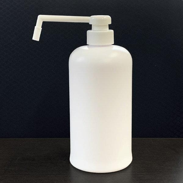日本製プラスチック容器シャワーポンプ霧ポンプ容器800cc乳白色KPM800PEW-S