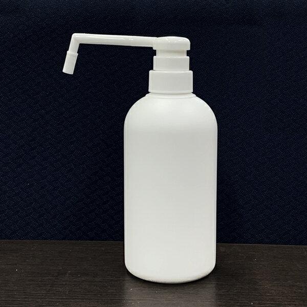 日本製プラスチック容器シャワーポンプ霧ポンプ容器500cc乳白色KPM500PEW