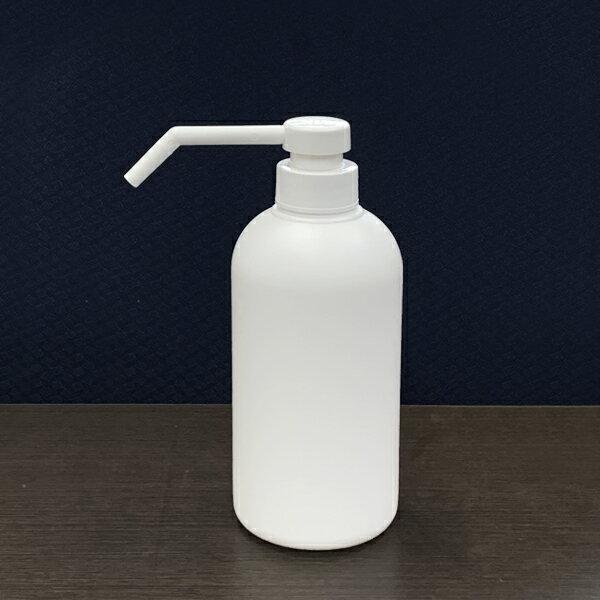 プラスチック容器シャワーポンプ霧ポンプ容器500cc乳白色KPY500PEW