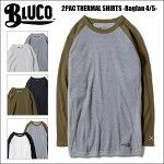 BLUCOWORKGARMENT・ブルコ2PACTHERMALSHIRTS-Raglan4/5-・サーマルシャツ・3color